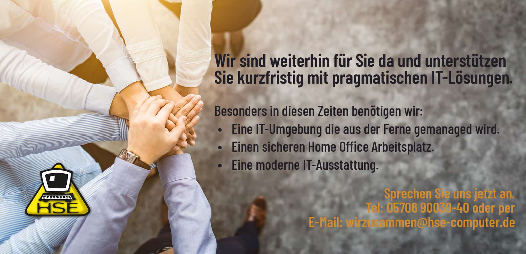 20.04.03 facebook Titel Wir sind da - HSE Computersysteme - IT aus Ostwestfalen
